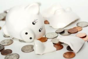 skarbonka z oszczędnościami